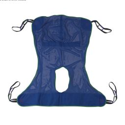 Full Body Patient Lift Sling, Mesh with Commode Cutout