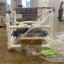 MJM PVC Heavy Duty Shower Chair - Open Box