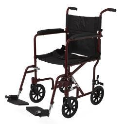"""Basic Aluminum Transport Chair with 8"""" Wheels"""