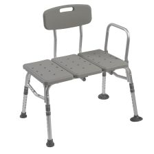 Drive Medical Transfer Bench w/ Adjustable Backrest
