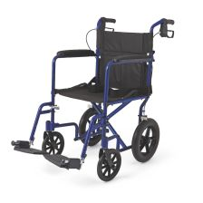 """Basic Aluminum Transport Chair with 12"""" Wheels"""