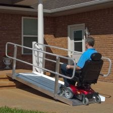 PVI OnTrac Wheelchair Access Ramp with Handrails